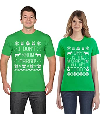 signaturetshirts men and women couples christmas todd and margo t shirts white print mens