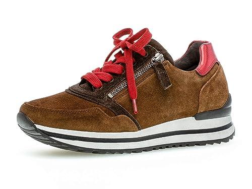 Gabor Damen Sneaker, Frauen Low Top Sneaker,Comfort Mehrweite,Reißverschluss,Optifit Wechselfußbett
