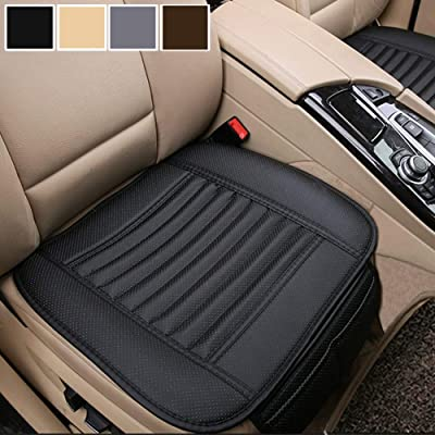 Big Ant Car Seat Cushion, 1PC Breathable Car Interior Seat Cover Cushion Pad Mat for Auto Supplies Office Chair with PU Leather(Black): Automotive