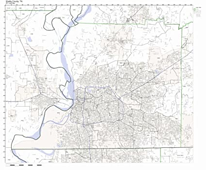 Amazon Com Shelby County Tennessee Tn Zip Code Map Not Laminated