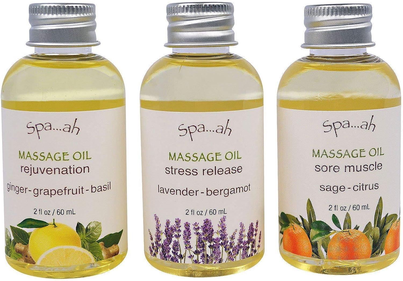Amazon Com Smith Vandiver Spa Ah Massage Oils Sampler 3 Piece Set 2 Fl Oz 60 Ml Each Health Personal Care