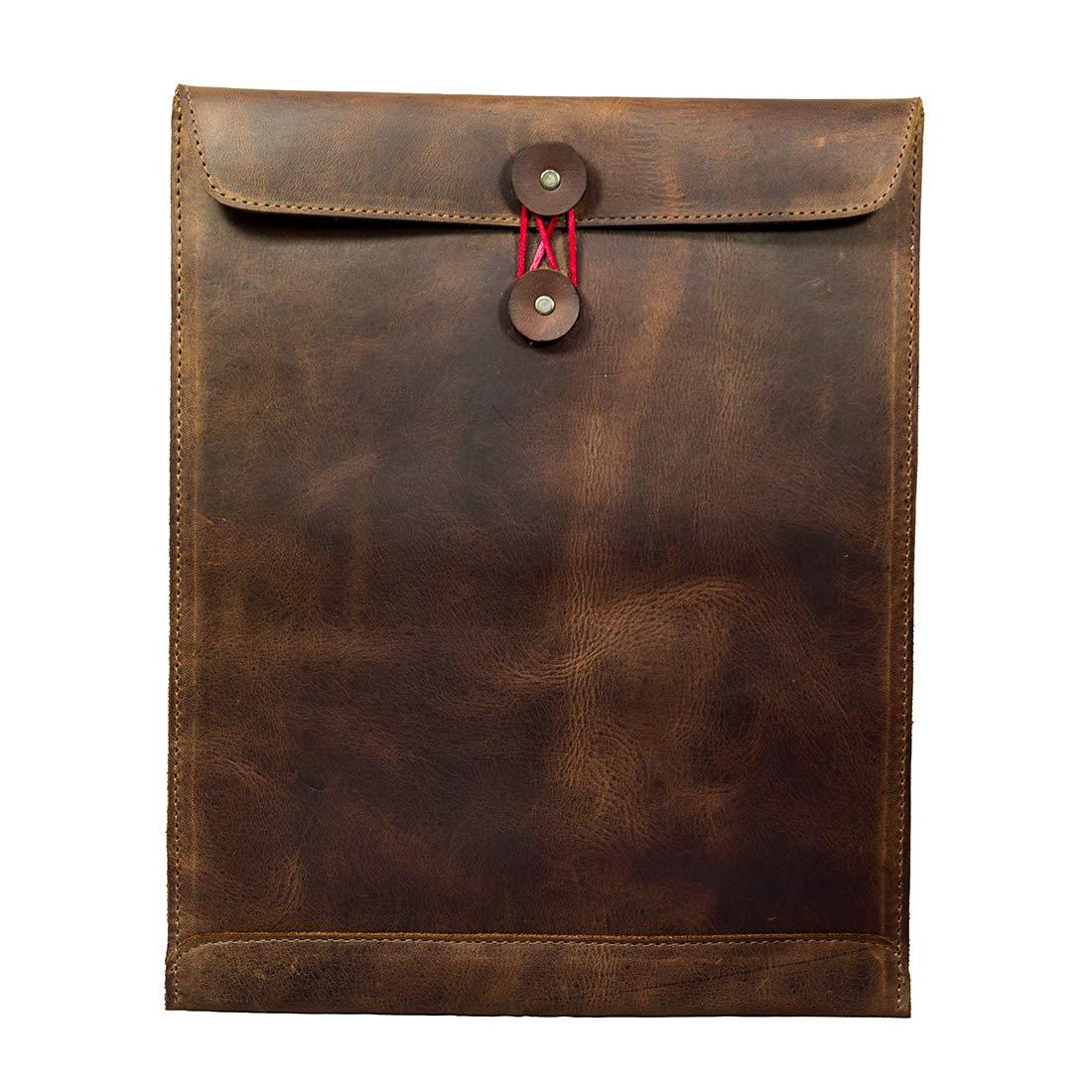Hide & Drink, Leather Mailing Envelope Document Holder/Office & Work Essentials Handmade, Includes 101 Year Warranty :: Bourbon Brown