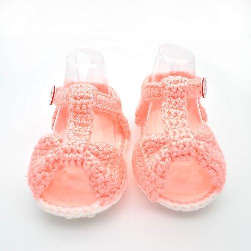 8f5e335eb6f08 Amazon.com: Baby Summer Sandals for Girls - Crochet Baby Shoes: Handmade