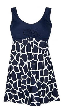 59ee1fe99ab77 Mintsnow Women s Plus Size Swimwear Modest Bathing Suits Cover up Swim Dress