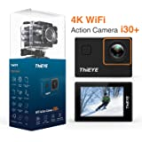"ThiEYE 4K Action Camera Wifi Waterproof Sport Video Camera 12MP Full HD 2"" Screen with Multiple Modes, 170 Wide Angle, 197FT Waterproof, App Control and Full Accessories (i30+)"