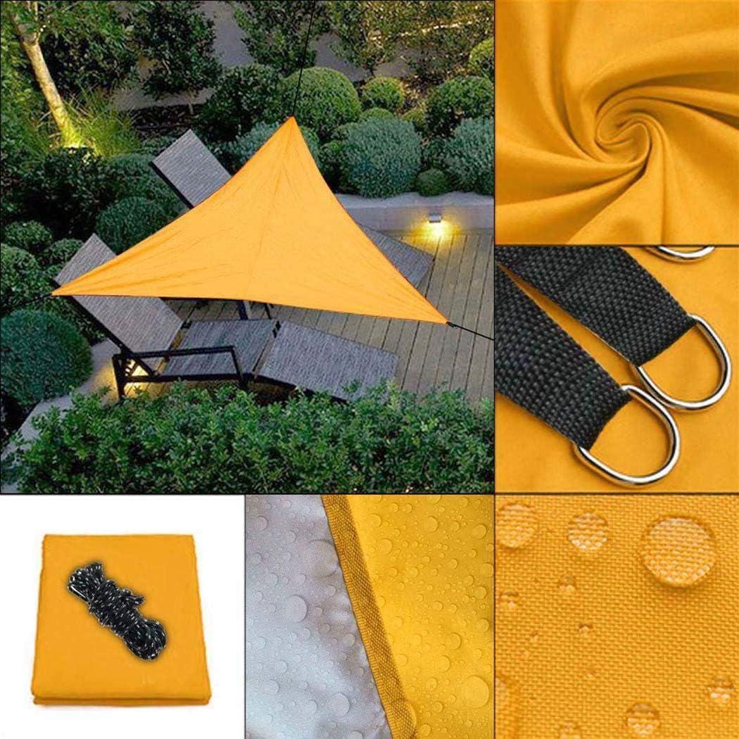 Rampmu 9 10 x 9 10 x 9 10 Portable Triangle Sun Shade Sail UV Block Sunscreen Awning Canopy for Outdoor Patio Garden