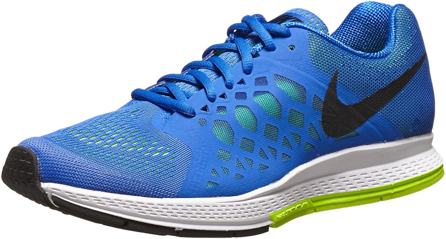 Nike Air Zoom Pegasus 31, Zapatillas de Running para Hombre, Azul/Blanco/Verde/Negro, 44 EU: Amazon.es: Zapatos y complementos