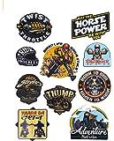 Automopix Bike Stickers Horse Power Bike Decals Tool Box Helmet Stickers Full Sheet