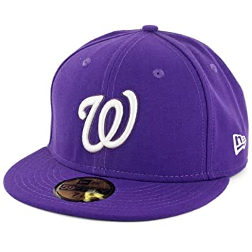 best service 72e1c 6633c ... get new era 59fifty washington nationals fitted hat deep purple white  mens cap eb204 de328