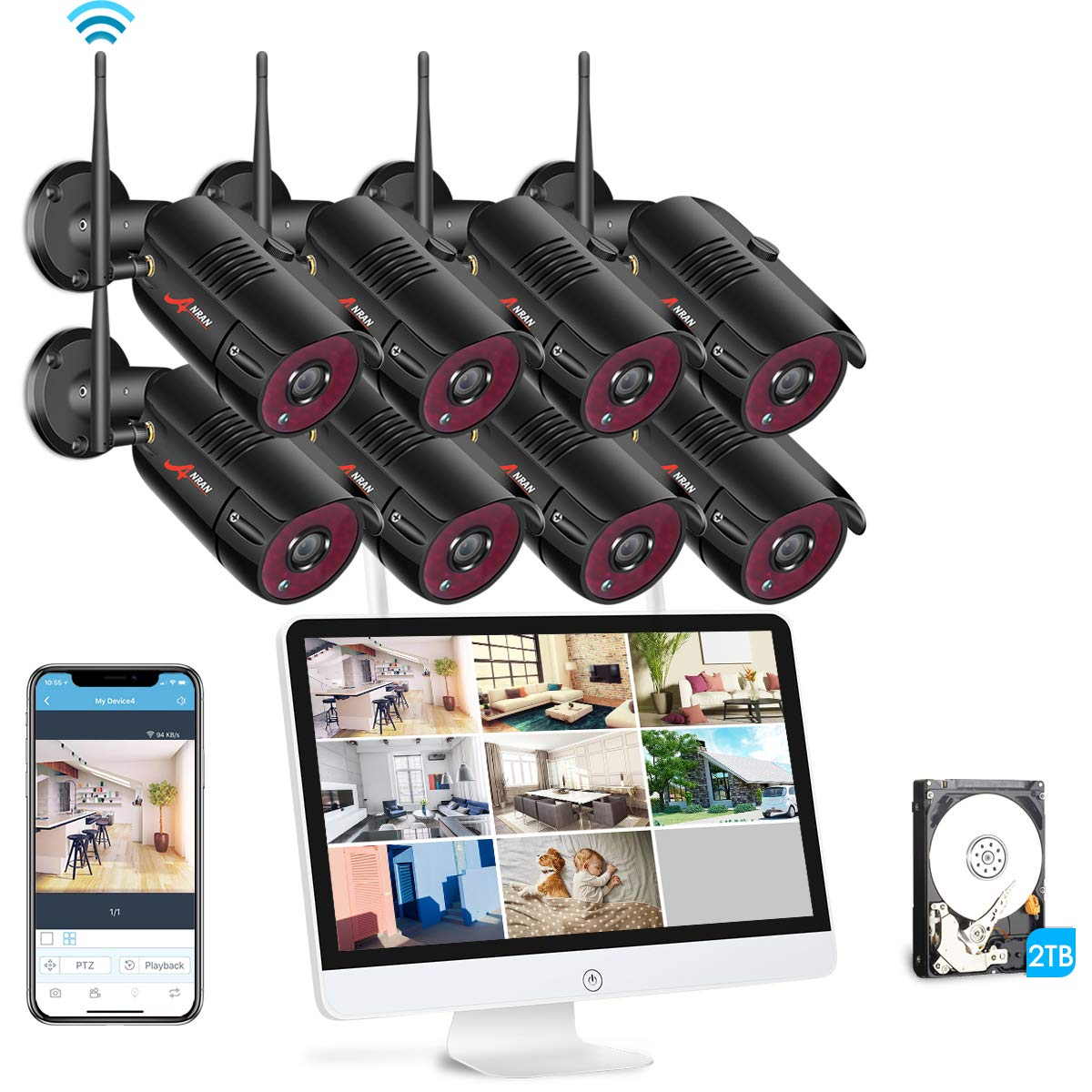 Best Outdoor Wireless Security Camera System With DVR ...