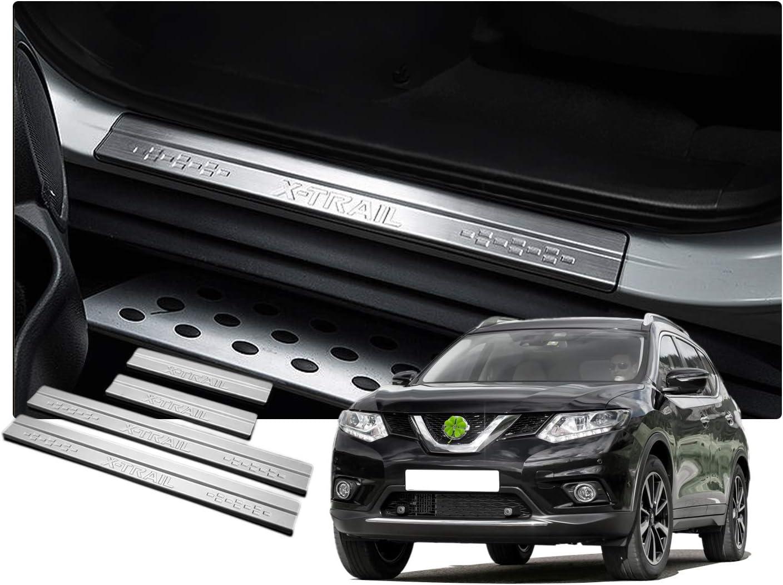 4 pezzi in Acciaio INOX Antigraffio RUIYA X-Trail 2014-2019 Listelli di Protezione per Paraurti Auto