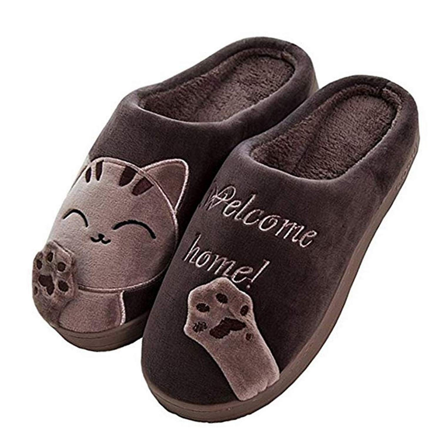Im good at you Cute Non-Slip Winter Women Slippers Home Female Comfort Floor Women Shoes Cotton Ladies Indoor Slippers