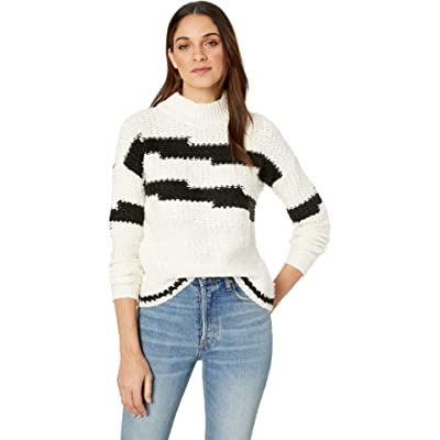 1.State Womens Multi Texture Crew Neck Sweater at Women's Clothing store
