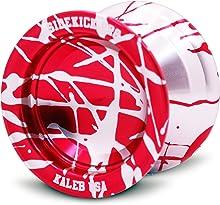 Sidekick Yoyo Pro Reverse Splashes Responsive Professional Yo-Yo (Red & Silver)