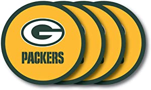 NFL Green Bay Packers Vinyl Coaster Set (Pack of 4)