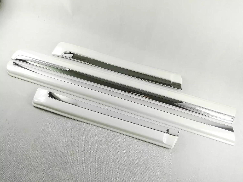 【CW】ドア サイド モール ガーニッシュ「トヨタランドクルーザープラド 150系(2009年~ )」社外品 (ホワイト) B07D1Z4LHF ホワイト ホワイト