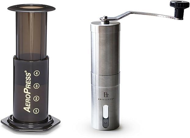 Aerobie AeroPress Cafetera con molinillo manual de café Brillante ...
