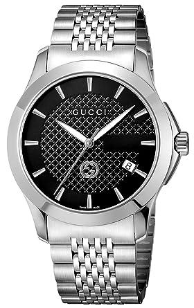 wholesale dealer 85e11 1b794 Amazon | [グッチ]GUCCI 腕時計 Gタイムレス ブラック文字盤 ...