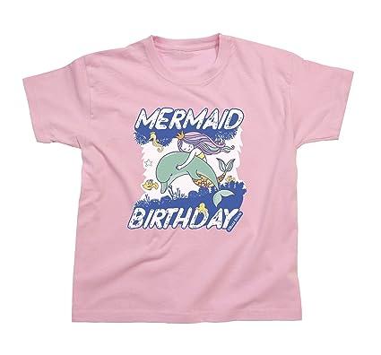 Buzz Shirts Chicas Mermaid CUMPLEAÑOS Dolphin Camiseta Edad ...
