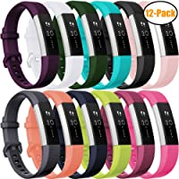 HUMENN For Fitbit Alta HR Strap, Adjustable Replacement Sport Accessory Wristband Strap for Fitbit Alta/Alta HR Fitness Tracker Small Large 15 Colours