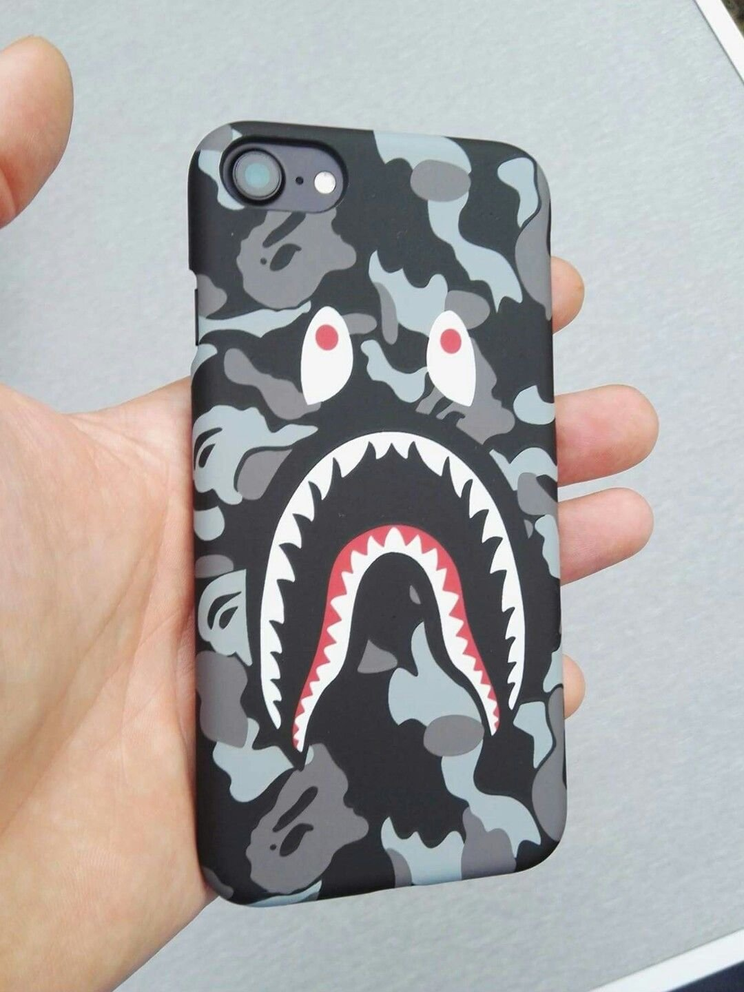 new style f9088 adcdf A Bathing Ape (Bape) iPhone 6/6s Protective Hard Case Cover GREY ...