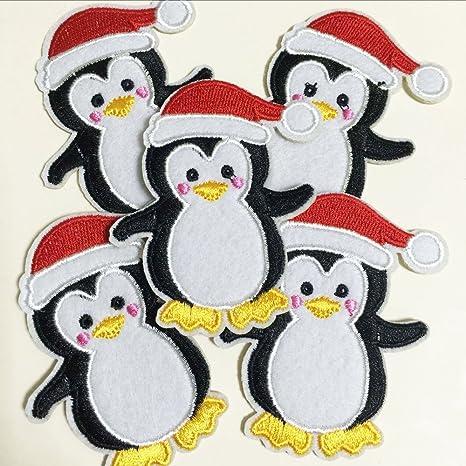 10pcs disfraces Navidad de pingüino con gorro de Papá Noel de ...
