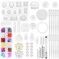 anezus Resin Molds, 149 Pieces Silicone Resin Casting Molds and Tools Kit for Jewelry Resin Craft Making