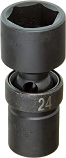 "product image for SKT-34374 1/2"" Drive 6 Point Swivel Metric Impact Socket 24mm"