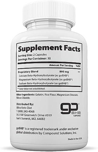 Potent Naturals Keto Pills – 120 Vegetable Capsules – BHB Salts Weight Loss Pills for Women and Men, Fat Burner Supplement – Advanced Weight Loss 800mg BHB Exogenous Ketones