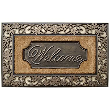 A1 Home Collections A1HOME200029 Doormat, Floral Border