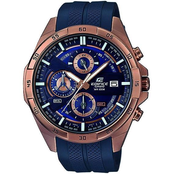 7493a811cd7a Casio Reloj Cronógrafo para Hombre de Cuarzo con Correa en Plástico EFR-556PC-2AVUEF   Amazon.es  Relojes