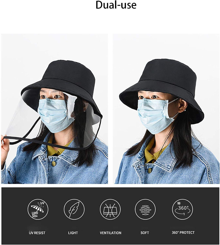 Cappello da Pescatore Cappello da Pescatore Rimovibile UPF 50+ Anti-UV Cappuccio di Protezione Anti-sputo per Esterno Fulidy Cappello di Protezione Anti-Appannamento