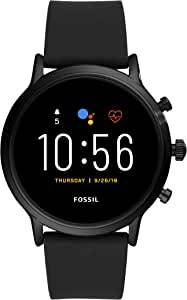 Fossil The Carlyle Hr Men's Multicolor Dial Silicone Digital Smartwatch - FTW4025