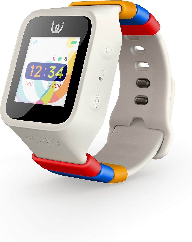 iGPS Wizard reloj inteligente para niños con tres tarjetas SIM del Reino Unido, seguimiento GPS en directo, voz celular y texto, ajustable, resistente al agua, SOS, zona de peligro y alertas de