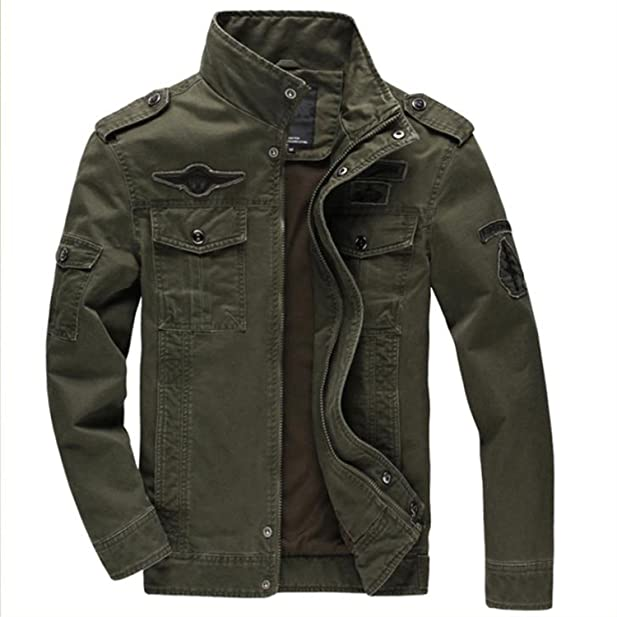 MRstriver Jacket German Army Classic Parka Military Combat Mens Jacket Mens Army Combat Uniform Coat Chaqueta Hombre at Amazon Mens Clothing store: