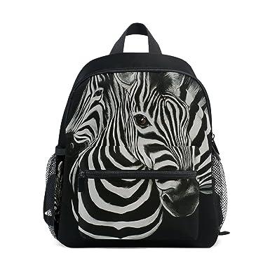 23a5cac4b02d Amazon.com | ZZKKO Animal Zebra Kids Backpack School Book Bag for ...