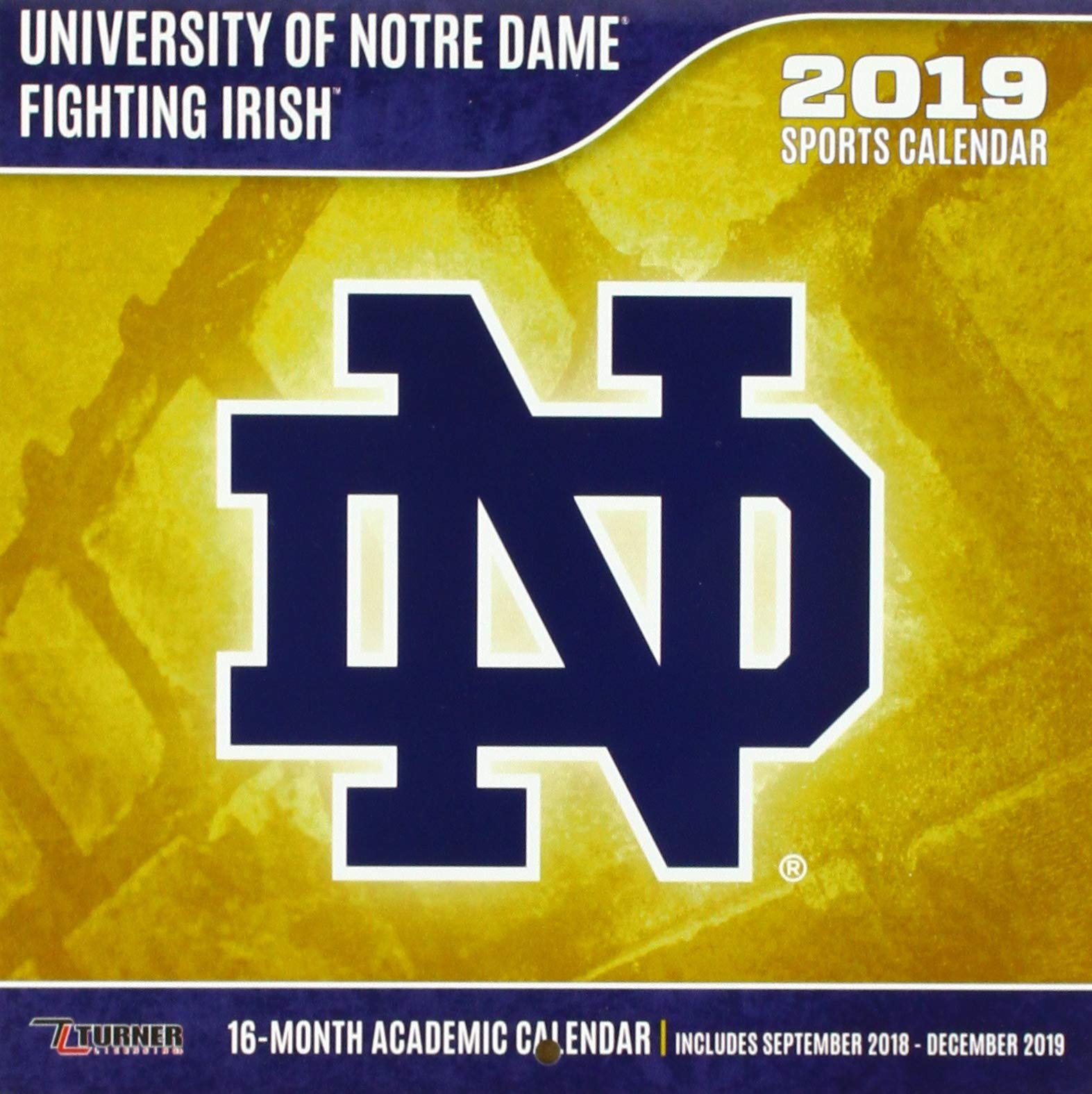 University of Notre Dame Fighting Irish 2019 Sports Calendar