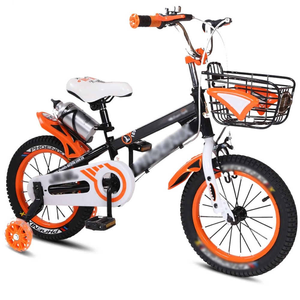 HAIZHEN マウンテンバイク 子供用自転車ベビーキャリッジ12/14/16/18インチマウンテンバイクブルーオレンジレッドイエロー環境保護材料 新生児 B07C6VRG6F 14 inch|オレンジ オレンジ 14 inch