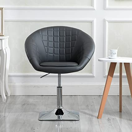 Image Unavailable. Image Not Available For. Color: Round Swivel Chair,  Luxury Leather ...