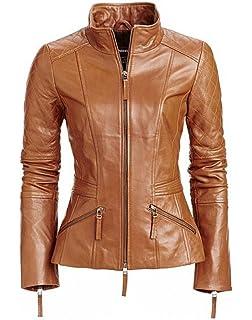World of Leather Moto Genuine Lambskin Leather Jacket Stylish Biker Black /& Red