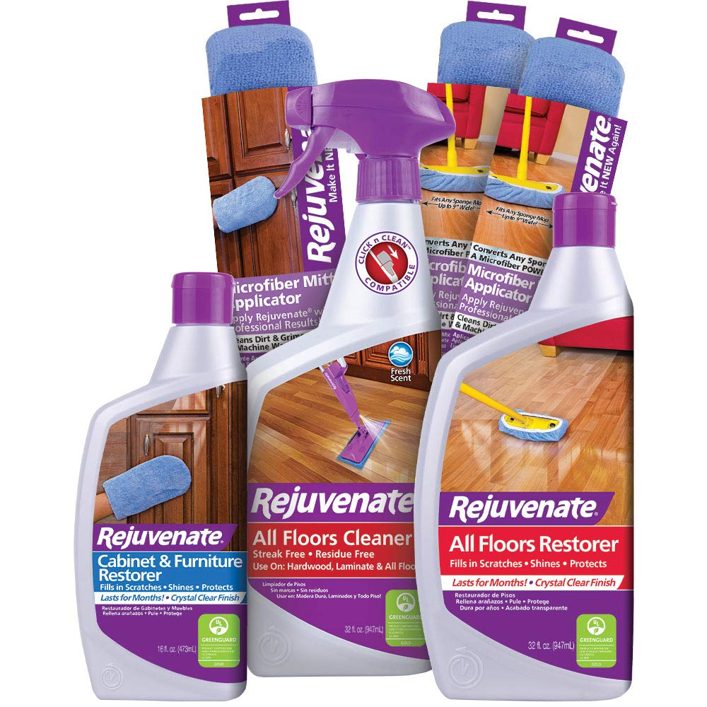 Rejuvenate Complete Floor, Cabinet and Furniture Home Restoration Kit - Clean and Restore Floors, Cabinets and Furniture - 7 Piece Kit by Rejuvenate
