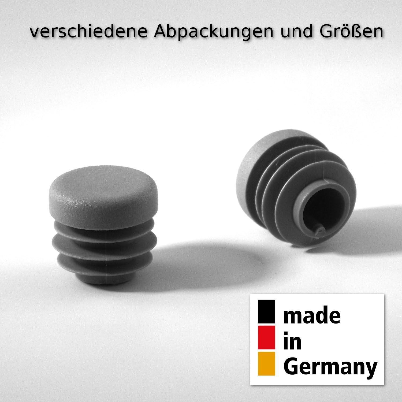 5 Stck Rundstopfen 50 Schwarz Kunststoff Endkappen Verschlusskappen