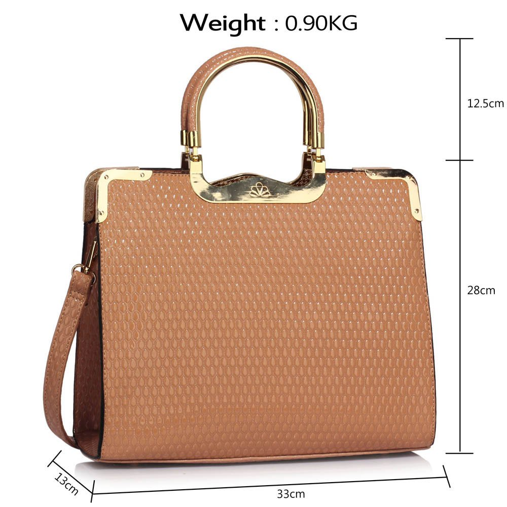 7f57700b8068 Grab Bags For Women (Nude) Designer Handbags Tote Shoulder Faux Leather  Ladies Stylish  Amazon.co.uk  Shoes   Bags