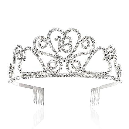 GreeStore - Tiara de 18 cumpleaños con diadema de corona de ...
