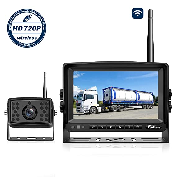 Hd Wireless Backup Camera For Rv Truck Camper Trailer Pickup Bus Backup Camera Wireless Digital System With Stable Signal 7 Large Screen Great Night