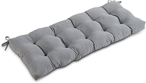 South Pine Porch AM5812-Heather Heather Gray 51-inch Outdoor Bench Cushion