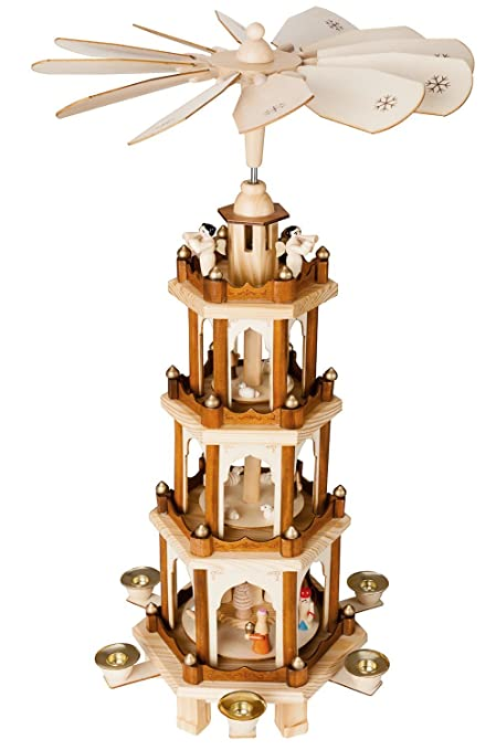 BRUBAKER Christmas Pyramid - 24 Inches - 4 Tier Carousel with 6 Candle  Holder and Hand - Amazon.com: BRUBAKER Christmas Pyramid - 24 Inches - 4 Tier Carousel