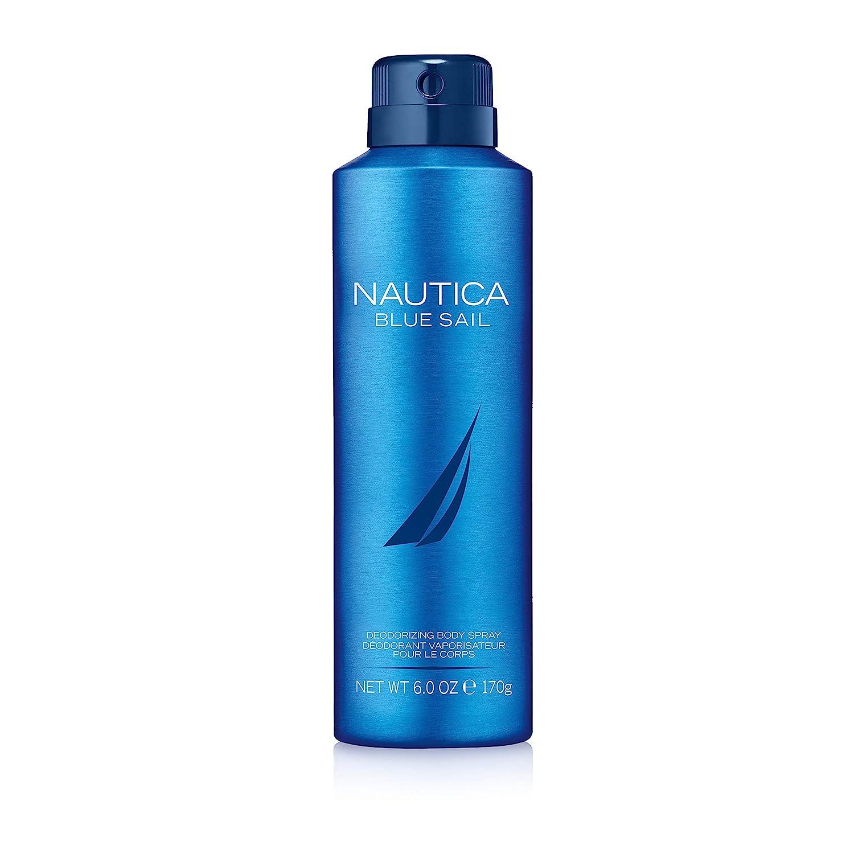 Nautica Blue Sail Deodorizing Body Spray for Men, 6 oz., Male Body Spray in a Classic, Water & Sailing Inspired Fragrance