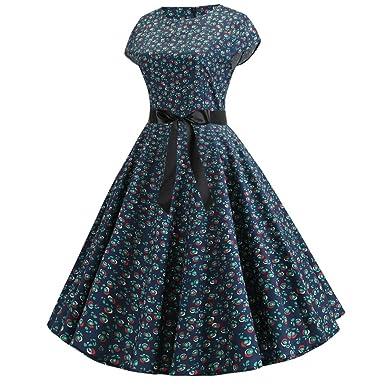 Vestidos para Verano Casual para Mujer, diseño Floral Vintage ...