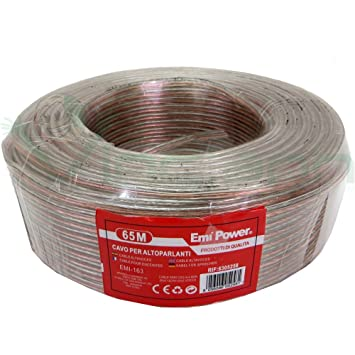 Rollo 65 m cable altavoz audio bobina altavoces Speaker altavoces bipolar hilo